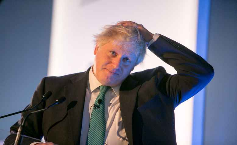 Boris Johnson scratching his head, 2017. Photo: Chatham House