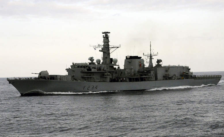 British Royal Navy's frigate, HMS Iron Duke. Photo: Wikimedia Commons