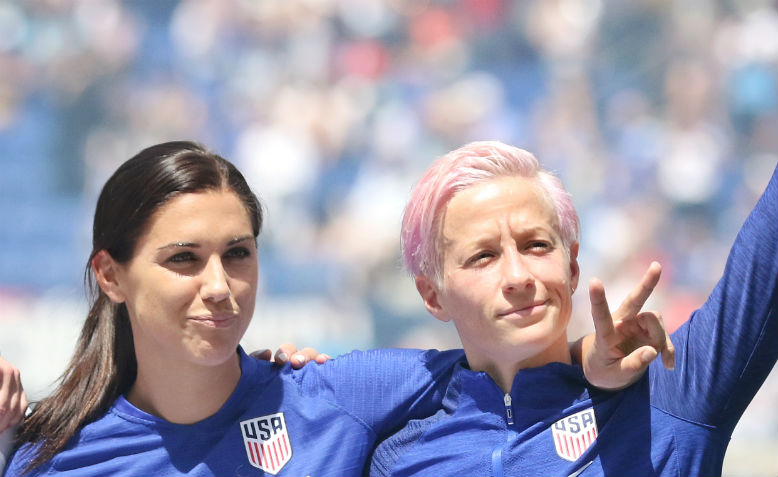 Alex Morgan and Megan Rapinoe