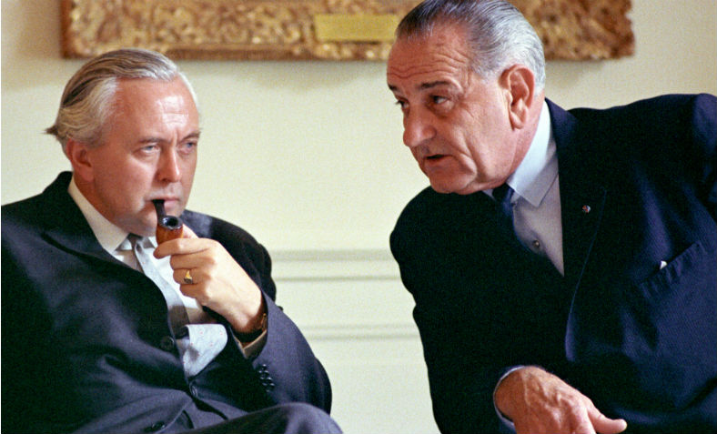 Lyndon B. Johnson with Harold Wilson