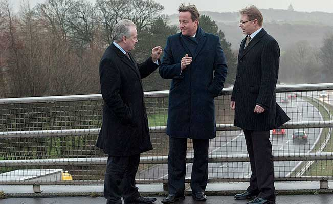 David Cameron, visiting the North West. Photo: No10