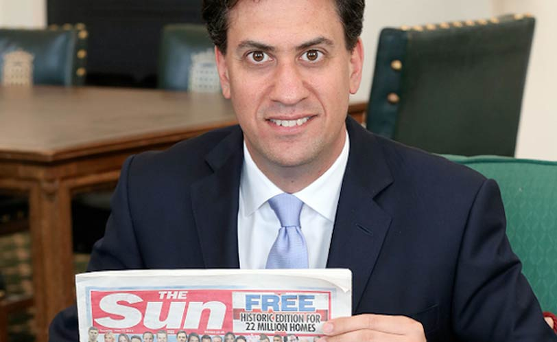 Ed Miliband with the Sun