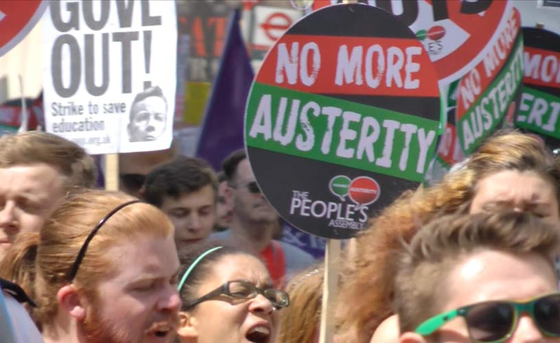 No more Austerity protest