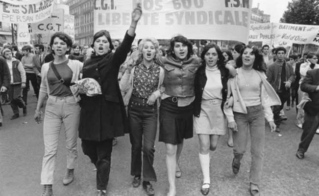 CGT demonstration in Place de la République, Paris, May 1968. Photograph: Giles Caron