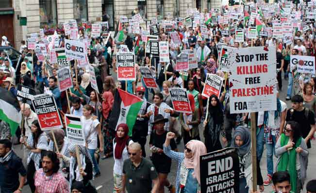 Protest against Israel's Invasion of Gaza
