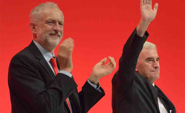 Jeremy Corbyn and John McDonnell, 2016 Labour Party Conference. Photo: Wikipedia