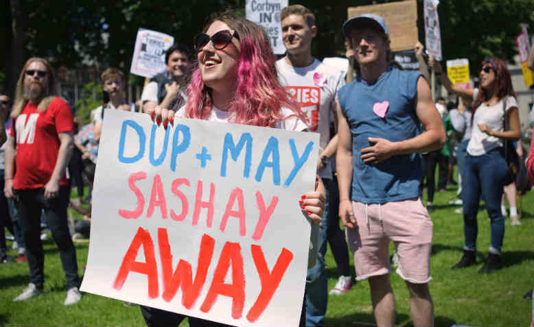 'May has to go' protest in Westminster, June 2017. Photo: Flickr/Jim Aindow