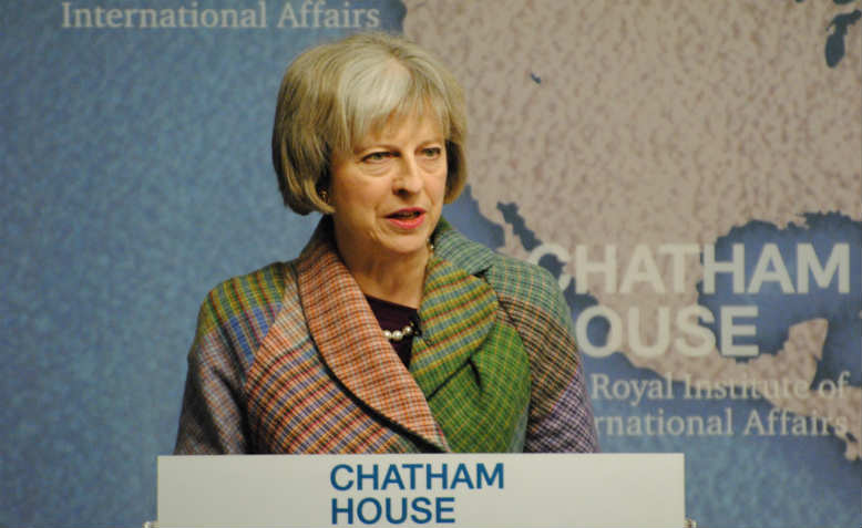 Theresa May as Home Secretary, 2015. Photo: Wikimedia Commons
