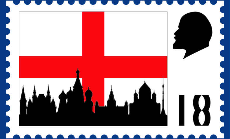 England World Cup 2018, Russia. Illustration: Hugh Tisdale