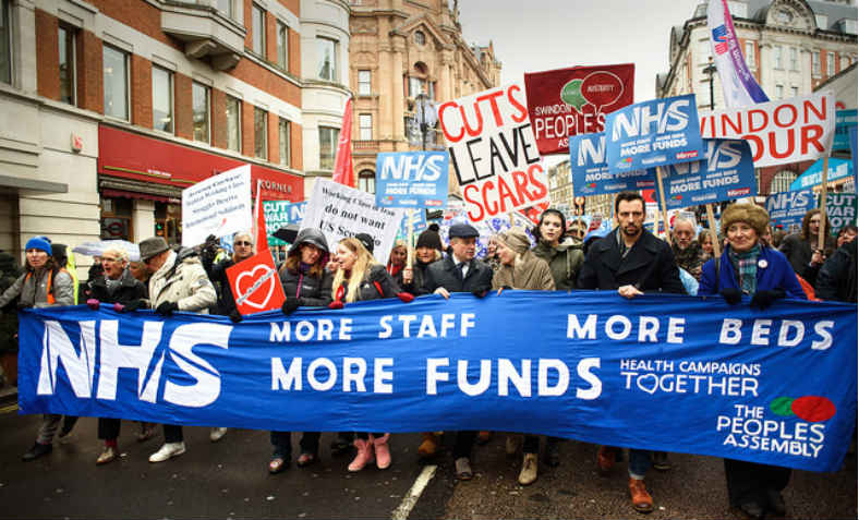 NHS in Crisis Demo 3.1.18. Photo: Counterfire
