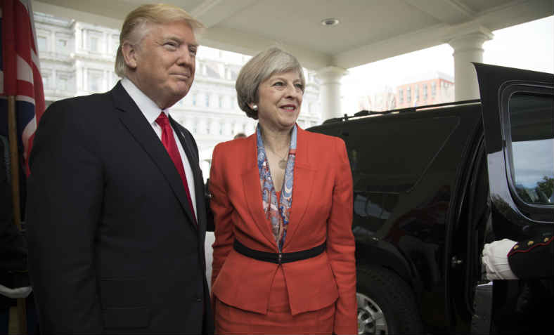 Theresa May visits Donald Trump. Photo: wikimedia commons