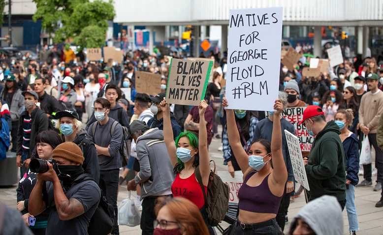 BLM protests in Vancouver. Source: Flickr - GoToVan
