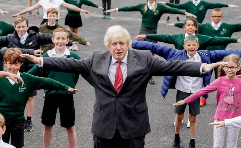 Boris Johnson at a primary school, 19 June. Photo: Flickr/Number10