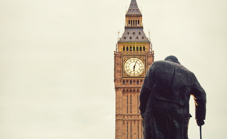Churchill statue, Parliament Square. Photo: Public Domain