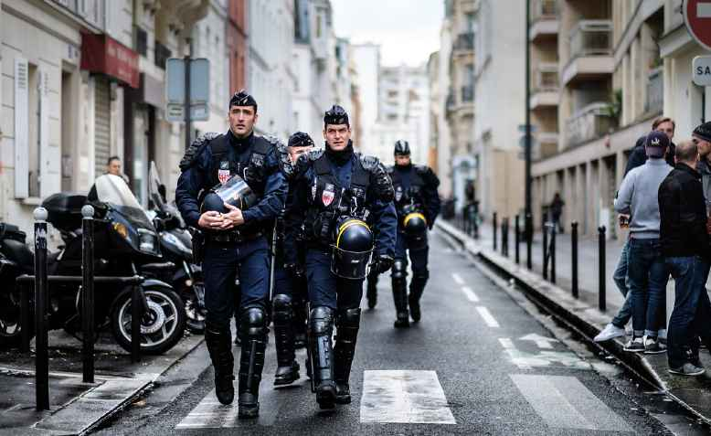 French riot police. Photo: Kristoffer Trolle