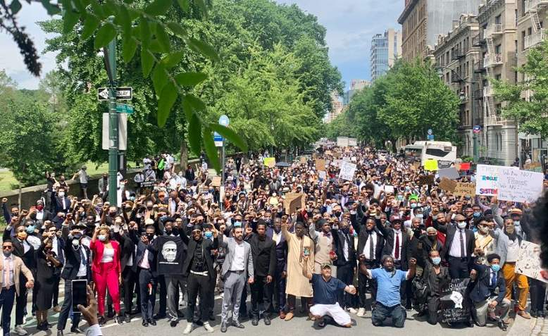 Harlem protest reaches Central Park, 4th June 2020. Photo: Keith Boykin via Twitter