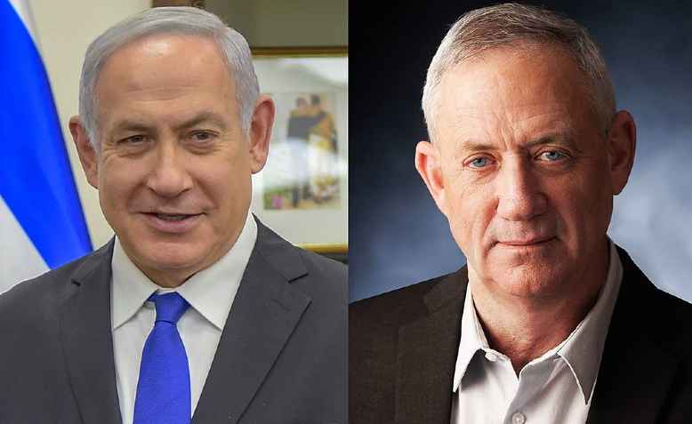 Benjamin Netanyahu and Benny Ganz. Photo: wikimedia commons
