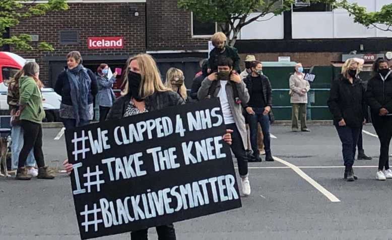 Prestwich Black Lives Matter protest, 10 June. Photo: Penny Hicks