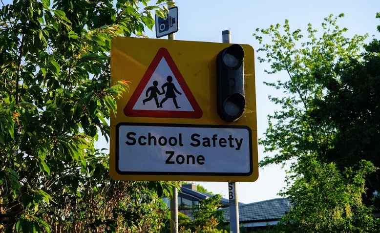 School safety zone. Photo: Neda Radulovic-Viswanatha