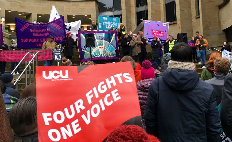 UCU strike rally, Glasgow, December 2019. Photo: Wikimedia Commons