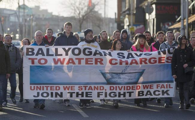 Ireland water protest