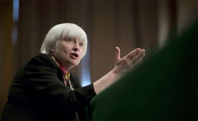 U.S. Federal Reserve Chair Janet Yellen. Photographer: Andrew Harrer/Bloomberg