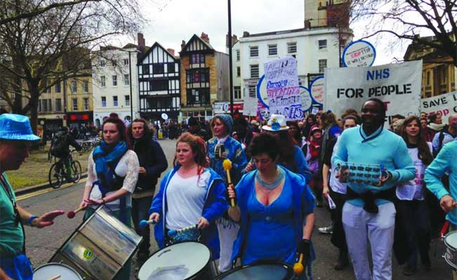 Demonstration for the NHS in Bristol. Picture Jack Hazeldine