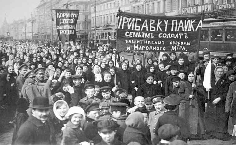 International Women's Day March, Russia 1917. Photo: Wikimedia Commons