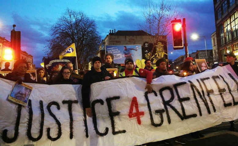 Bristol demand justice for Grenfell. Photo: Jack Hazeldine