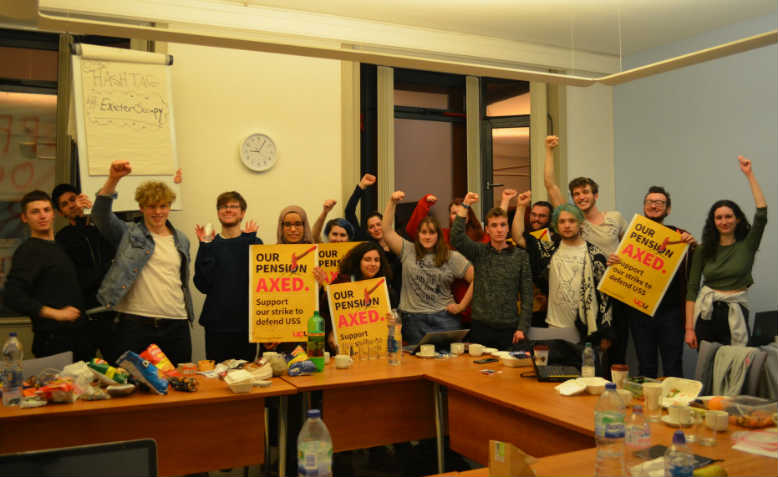 Photo: Facebook/Exeter Students Support The UCU Strikes 2018