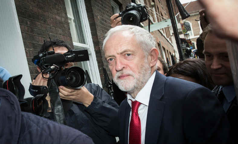 Jeremy Corbyn in the media. Photo: Chatham House