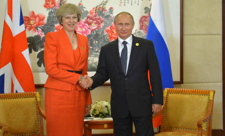 Theresa May meets Vladimir Putin, September 2016. Photo: Wikimedia Commons