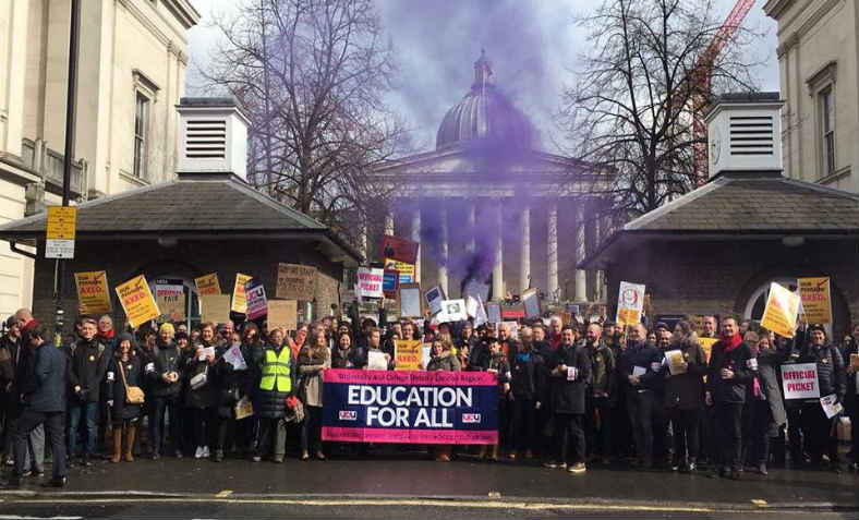 UCU picket and strike. Photo: @UCULondon