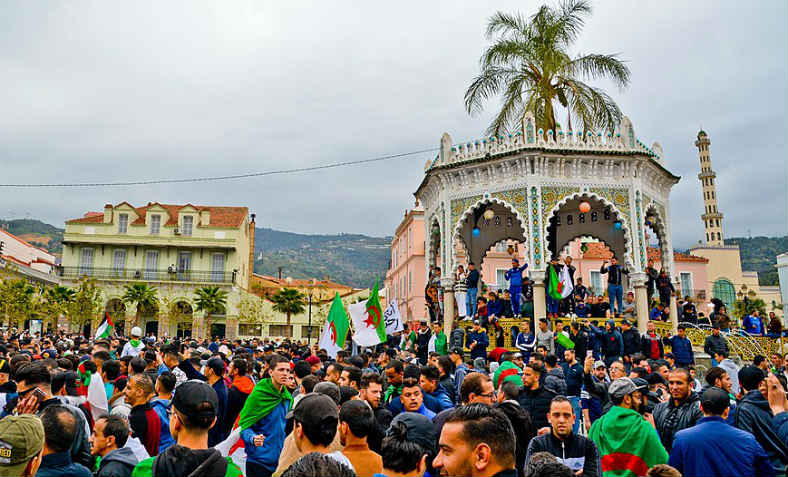 Protest against President Bouteflika standing for reelection for fifth time, in city of Blida, Algeria on 10 March 2019. Photo: Wikimedia Commons/Fethi Hamlati