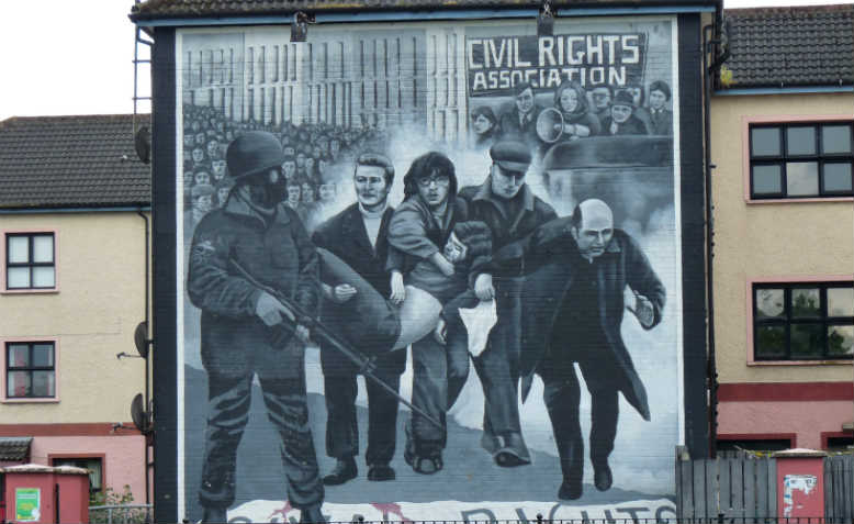 Bloody Sunday mural, Derry. Photo: Flickr/murielle29