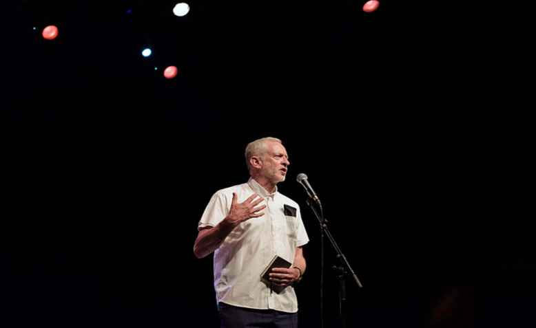 Jeremy Corbyn, For the Many concert. Photo: Jim Aindow