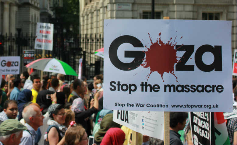 National demonstration for Gaza, July 2014. Photo: Ricardo Esteban Pineda