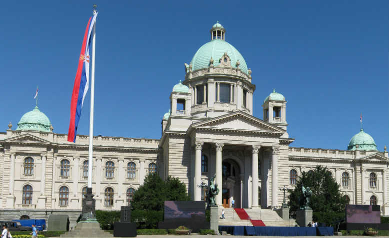 Serbia's Parliament building which was stormed during the 2000 uprising. Photo: Wikimedia Commons