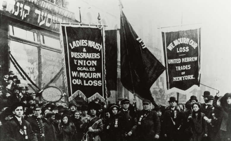 Protest for the Triangle Shirtwaist Factory Fire, 1911. Photo: Flickr/US National Archives