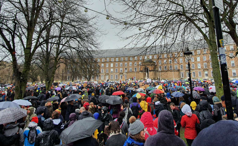 Bristol climate strike with Greta Thunberg. Photo: Naz Massoumi