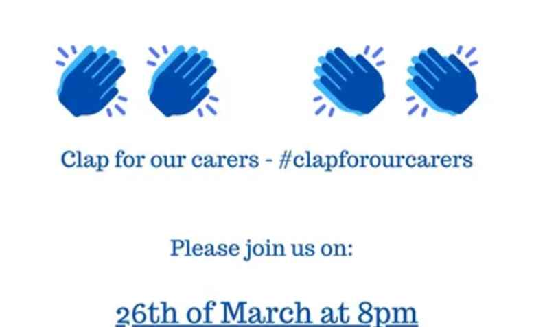 Clap for our carers. Photo: clapforourcarers.co.uk