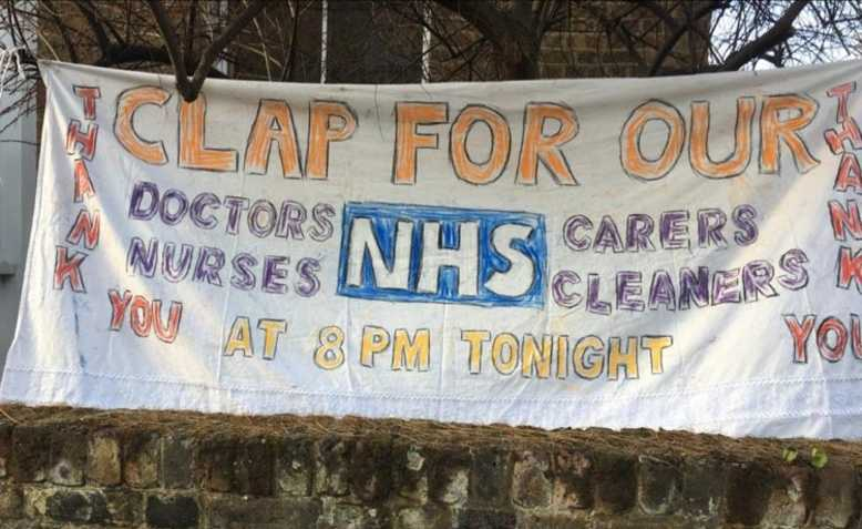 Clap for our NHS banner by Ellen Graubart