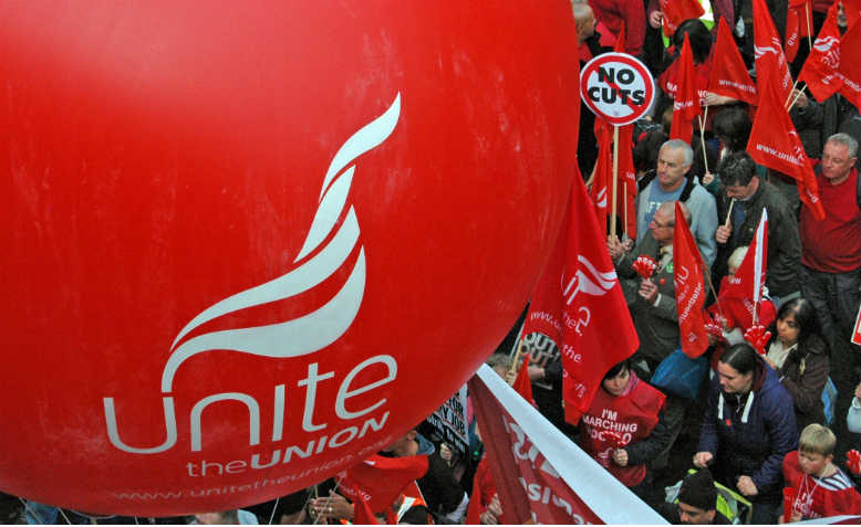 Unite the union balloon, TUC march 2012. Photo: Flickr/It's No Game