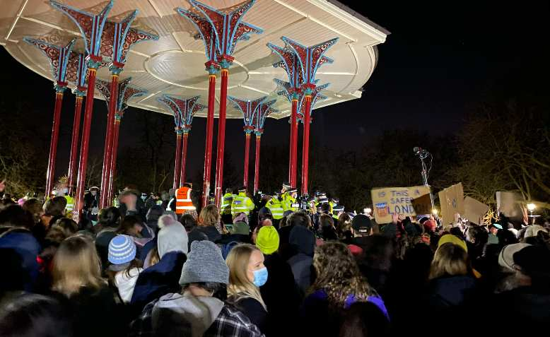 Vigil for Sarah Everard in Clapham Common attacked by police