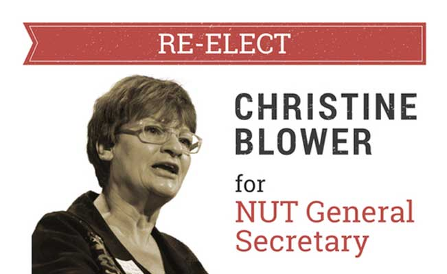 Re-elect Christine Blower