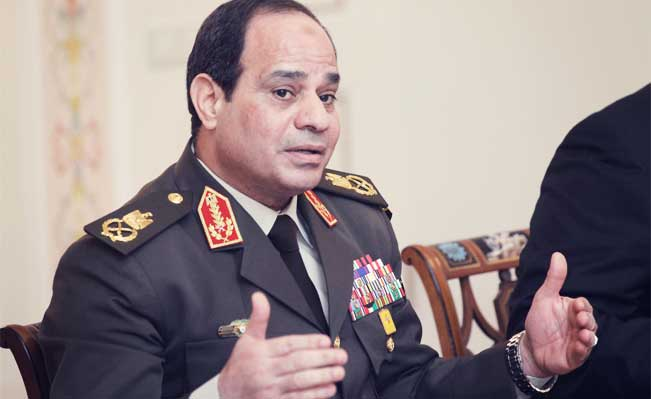 Egypt's Minister of Defense, First Deputy Prime Minister and presidential candidate, Field Marshal Abdel Fattah el-Sisi
