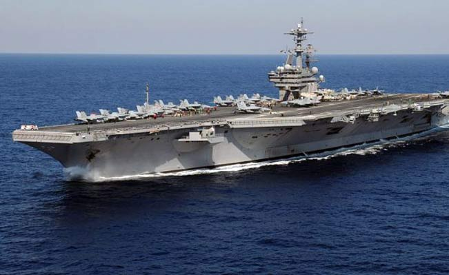 The Pentagon is reportedly moving the aircraft carrier George H.W. Bush into the Persian Gulf to provide US President Obama with options for possible airstrikes against al-Qaeda-linked militants in Iraq