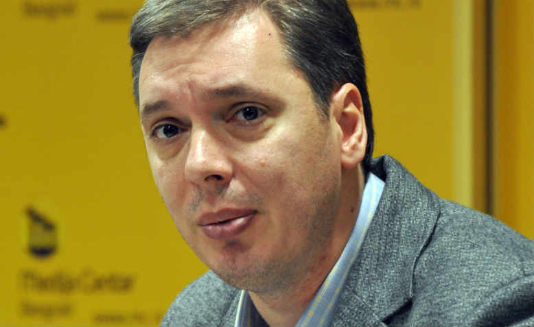 Aleksandar Vučić, Serbian Prime Minister and leader of Serbian Progressive Party (SNS) in2012
