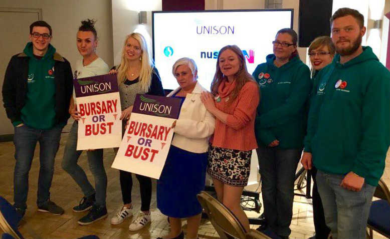 'Bursary or Bust' campaigners take their fight to Westminster. Photo: Facebook/Shelly Asquith