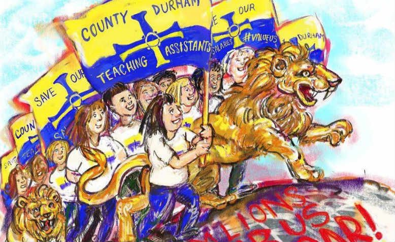 The Durham TAs in cartoon form